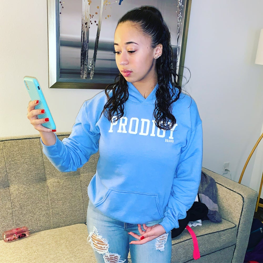 NEW BRAND PRODIGY BABY BLUE BOLD HOODIE