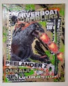 Riverboat Gamblers, Peelander Z, Daikaiju 2019 (16x20 canvas)