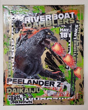Riverboat Gamblers, Peelander Z, Daikaiju 2019 (16x20 canvas)