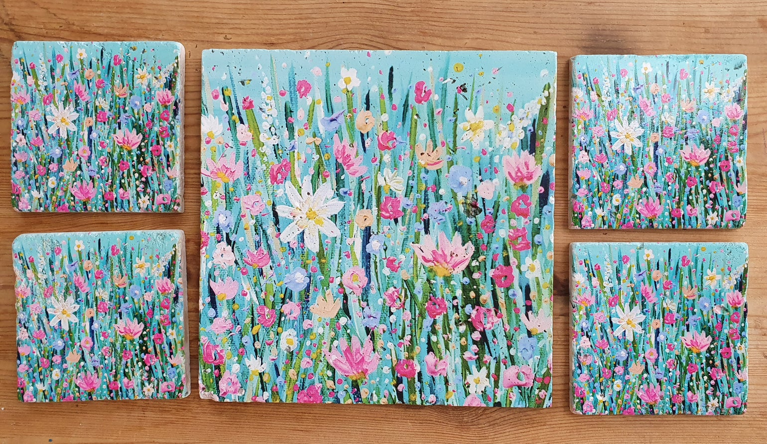 Image of 'Spring Has Sprung' Stone Mats