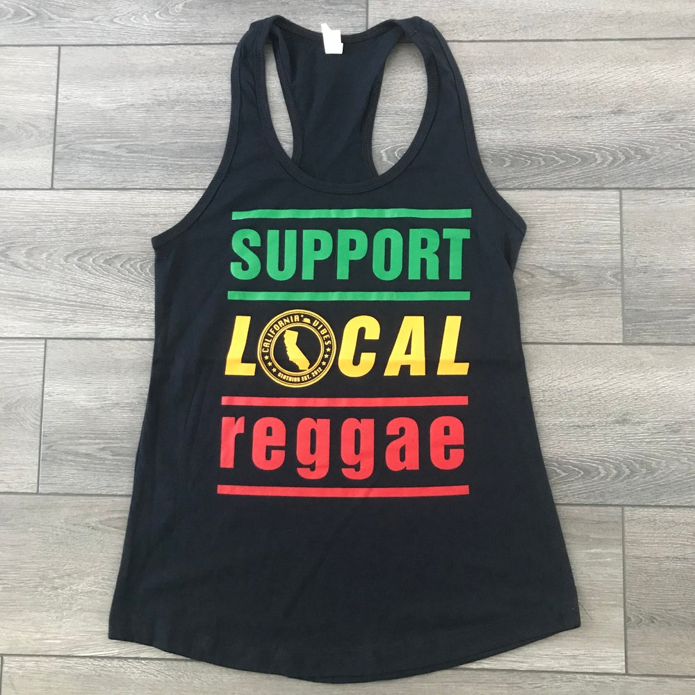 Image of Support Local Reggae Classic Womens Black Tank Top