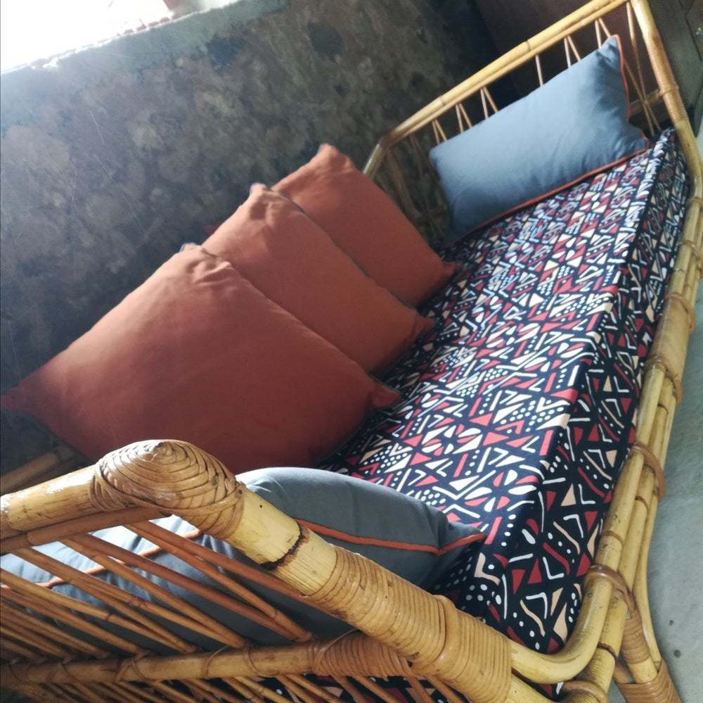 "Image of Fauteuil rotin-déco ""Africa"""