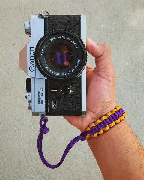 Image of Purple/gold 2 color single strap
