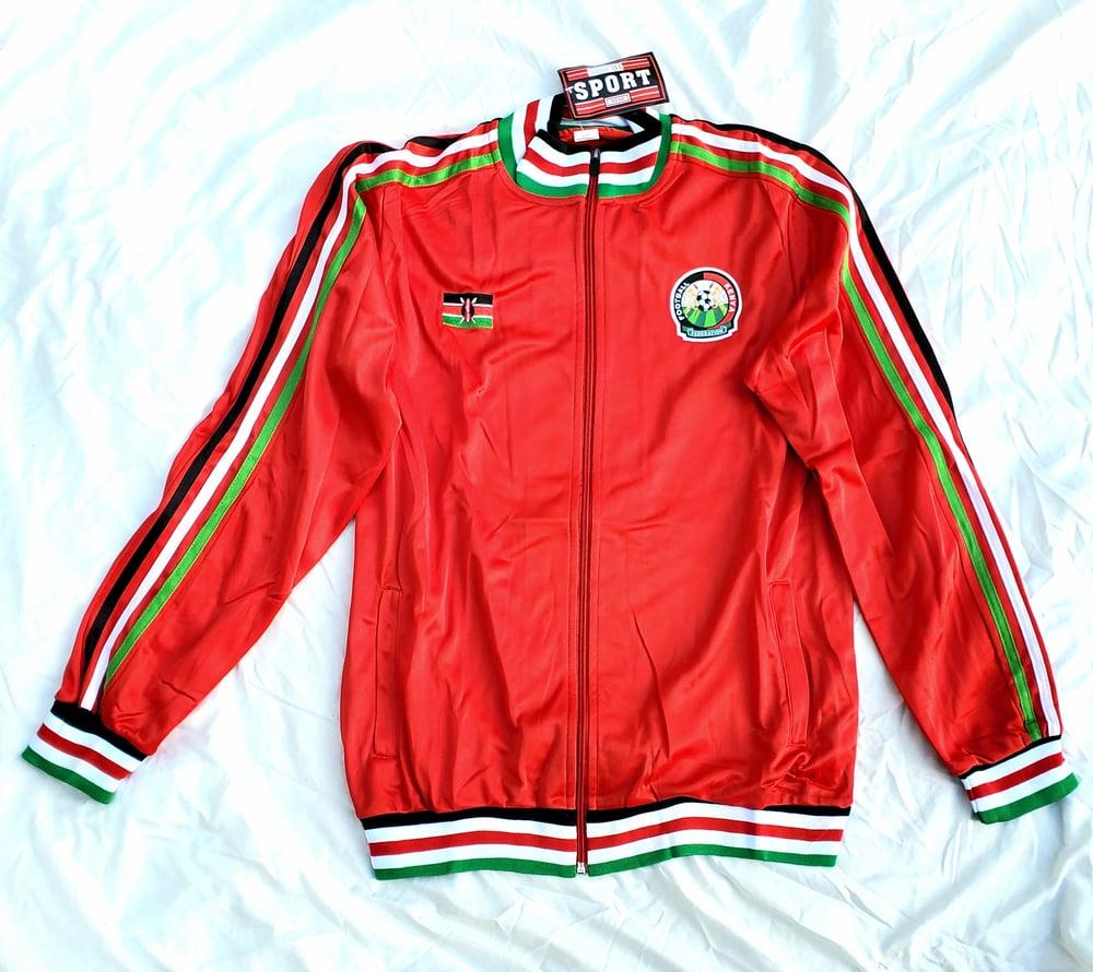 Image of Kenya track jacket Red