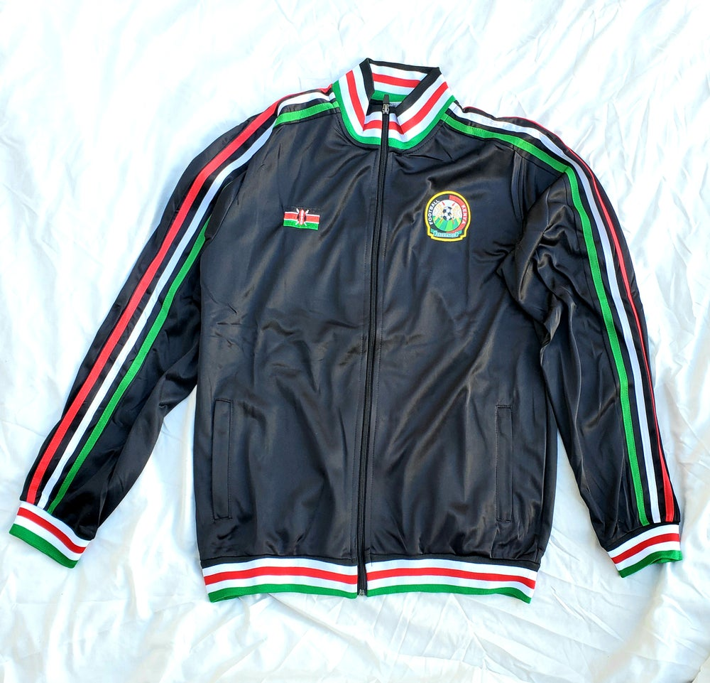 Image of Kenyan track jacket black