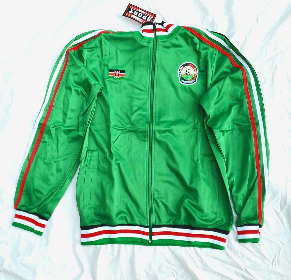 Image of Kenyan track jacket green