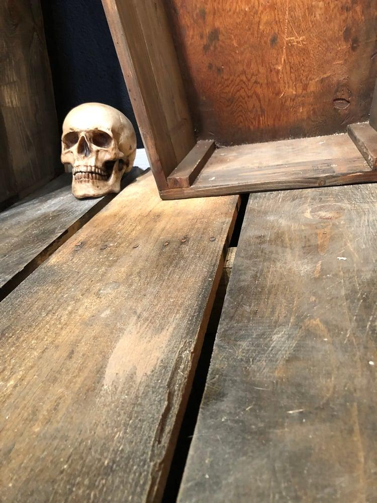 Image of Three Coffins w/ Attached Platform