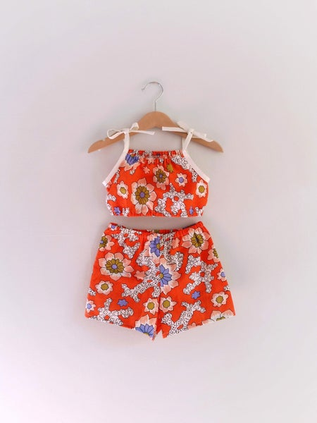 Image of Playsuit Set - Orange Crush