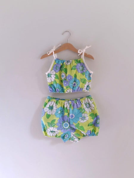 Image of Playsuit Set - Blue Hawaii