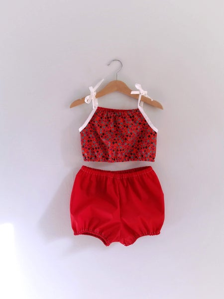 Image of Playsuit Set - Cherry Pop OOAK