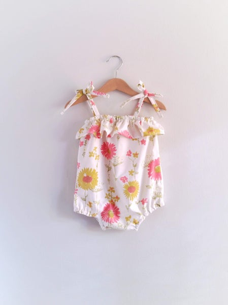 Image of Ruffle Sunsuit - Spring Floral