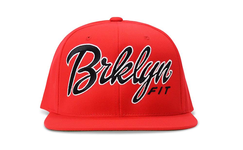 Image of BRKLYN FIT® LOGO (RED/BLACK/WHITE) - SNAPBACK