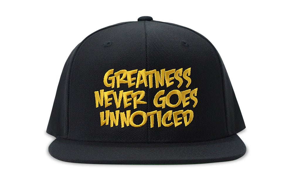 Image of Greatness Never Goes Unnoticed (BLACK/GOLD) - SNAPBACK