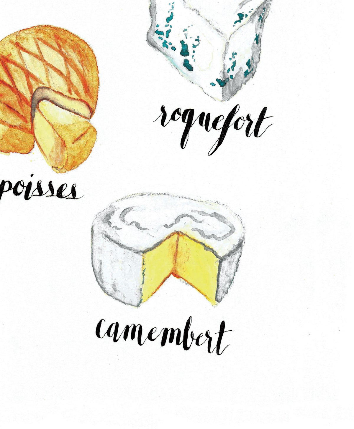 Image of Les Fromages Print