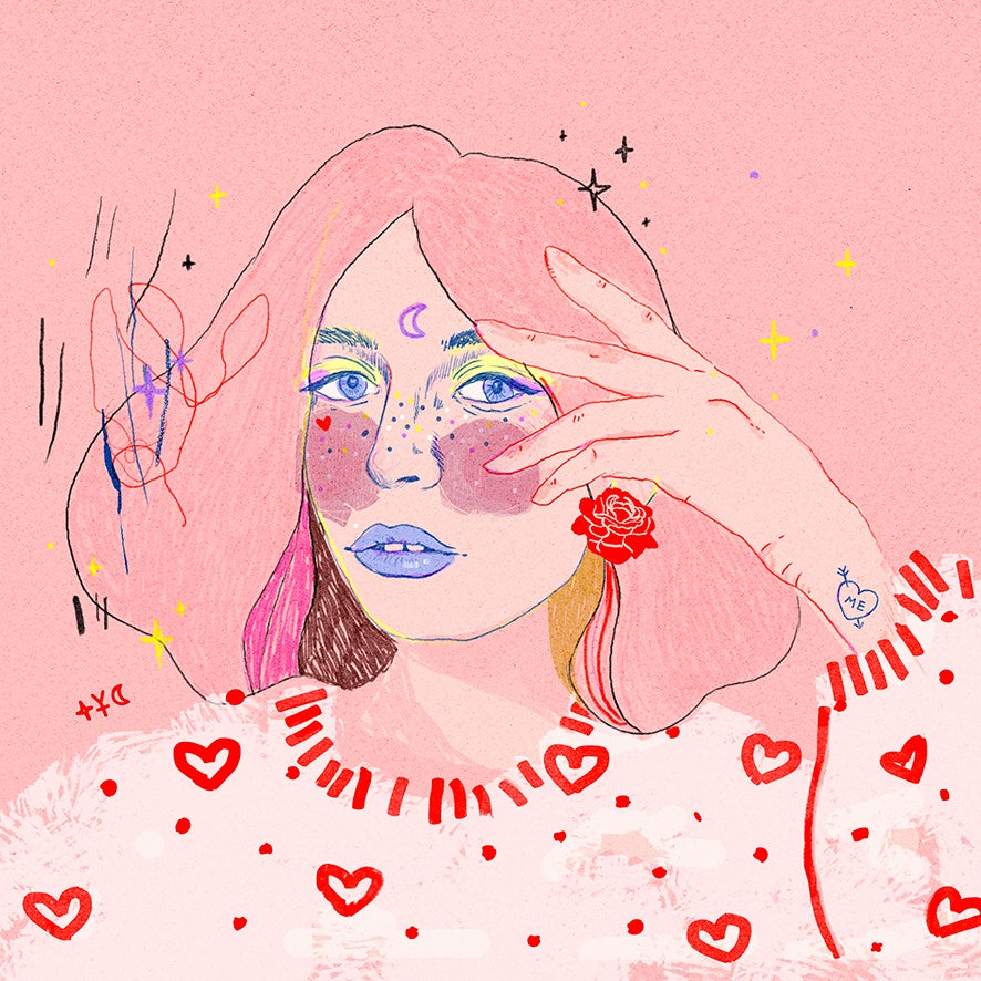 Image of Be Your Own Valentine (20x20cm Print)