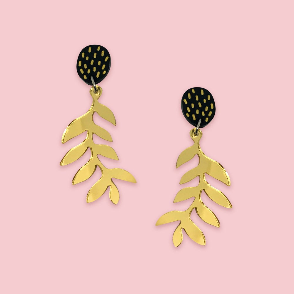 Image of Mini Ferns (Gold/Black)