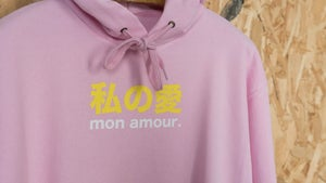 "Image of Sweat ""Mon Amour"" Rose Pale By FCKRS®"