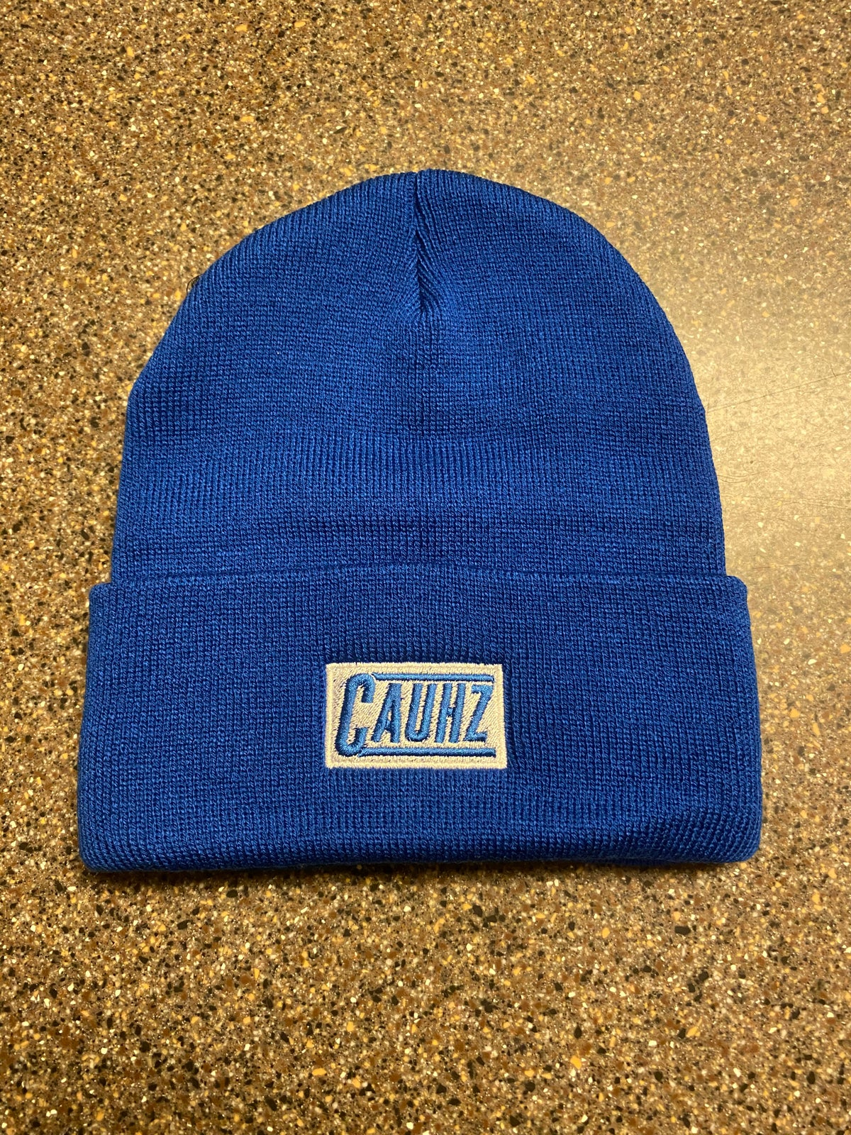 Image of Cauhz™️ Royal Blue Logo Stitched Beanie