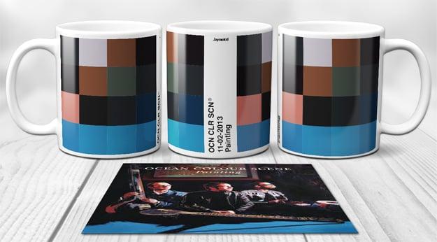 Image of Ocean Colour Scene - PixelPantone Mugs
