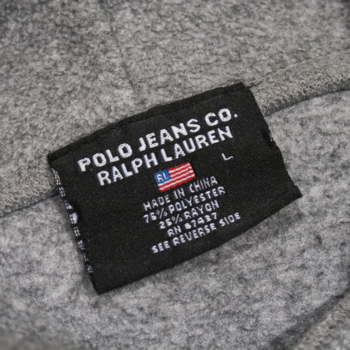 Image of Polo Jeans RL Vintage Hoodie Fleece Size L