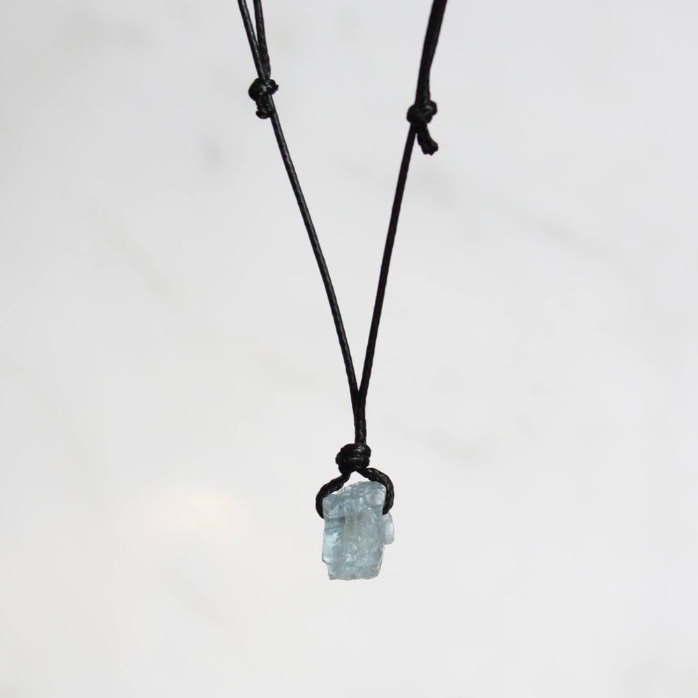 Image of Natural Vietnam Rough Aquamarine necklace