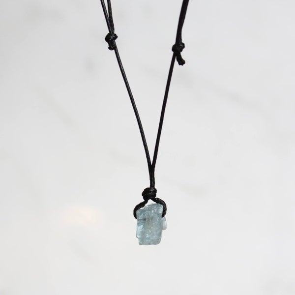 Image of Natural Vietnam Rough Aquamarine necklace