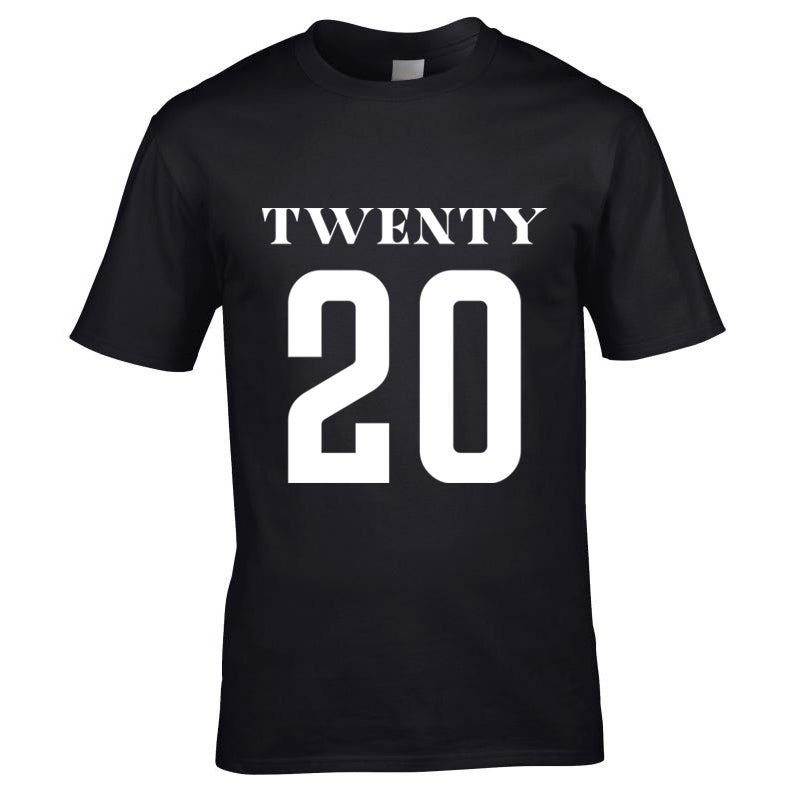 Image of Universe Twenty 20 Print T-Shirt Black