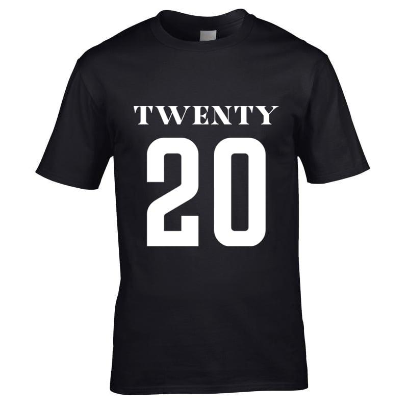Image of Universe Twenty 20 Print T-Shirt Black