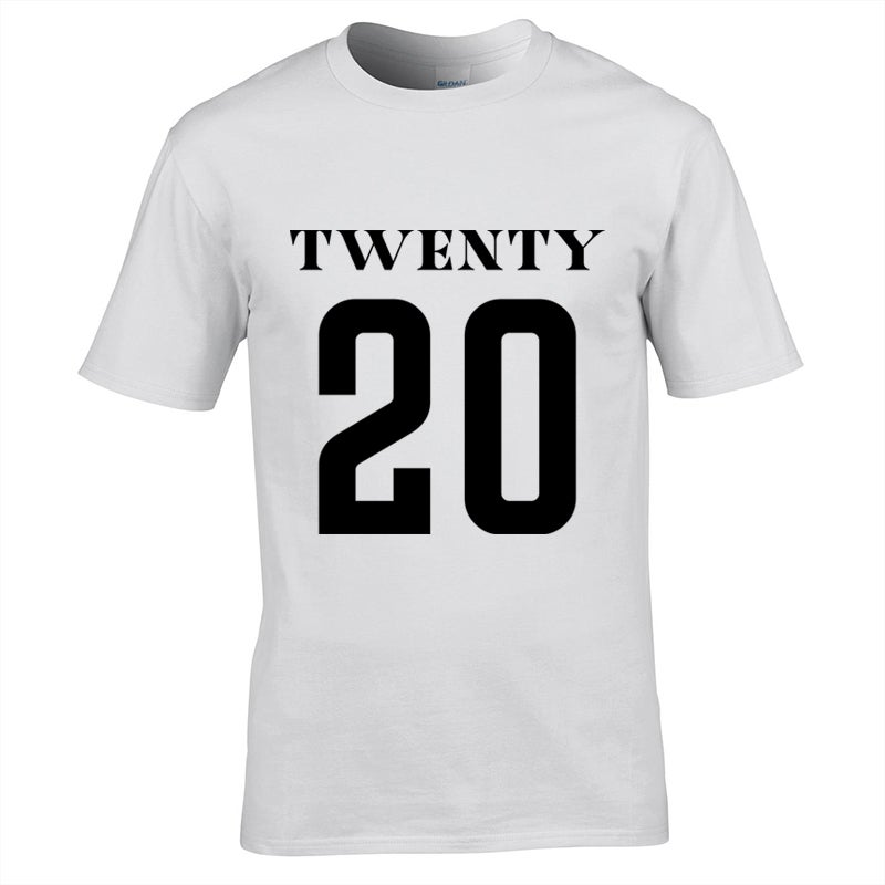 Image of Universe Twenty 20 Print T-Shirt White