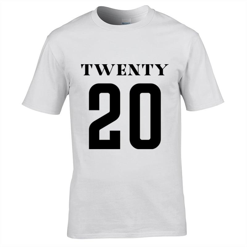 Image of Universe Twenty 20 Print T-Shirt White
