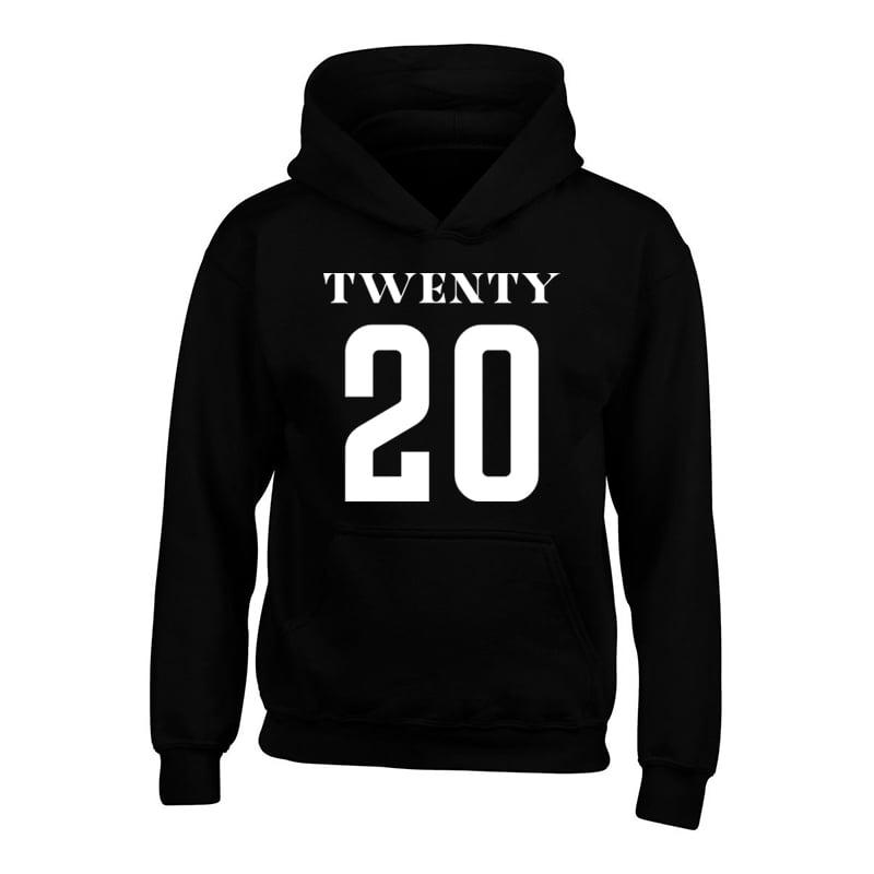 Image of Universe Twenty 20 Print Black Hoodie