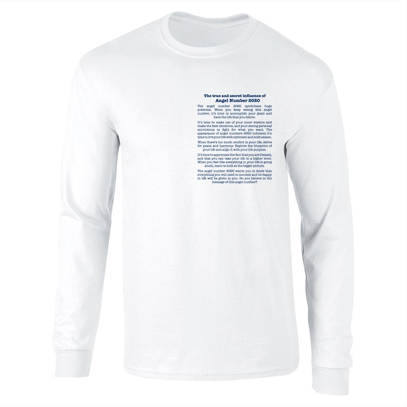 Image of Angel 'The Meaning Of' White Sweatshirt