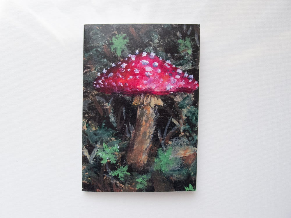 Image of Mushroom Notebook ~ Recycled Paper Notebook