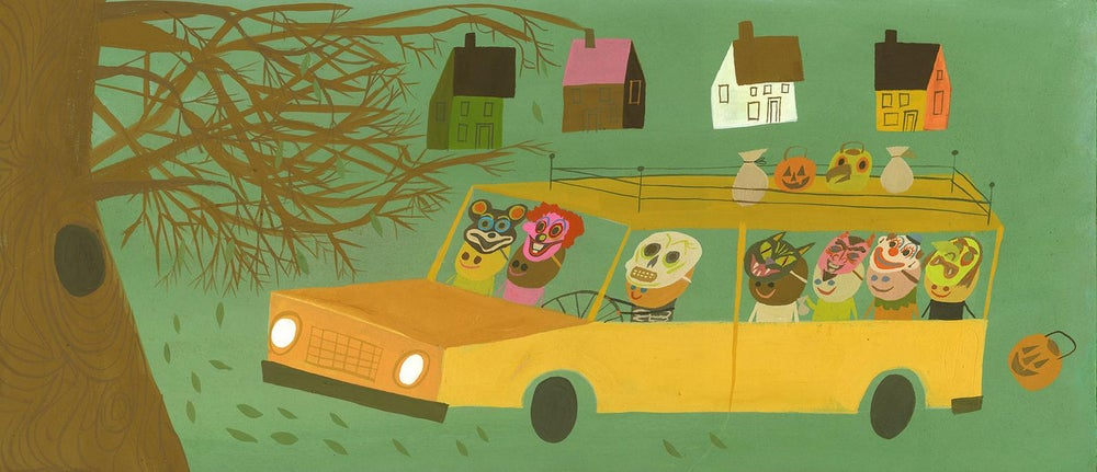 Image of Trick or treat bandits. Limited edition print.