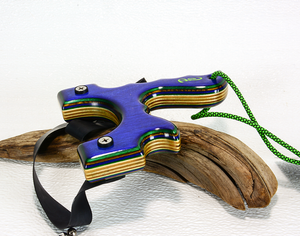 Image of Land and Sea Sling shot, Spectraply Wood, The Menace, Wooden Catapult, LEFT HANDED SHOOTER