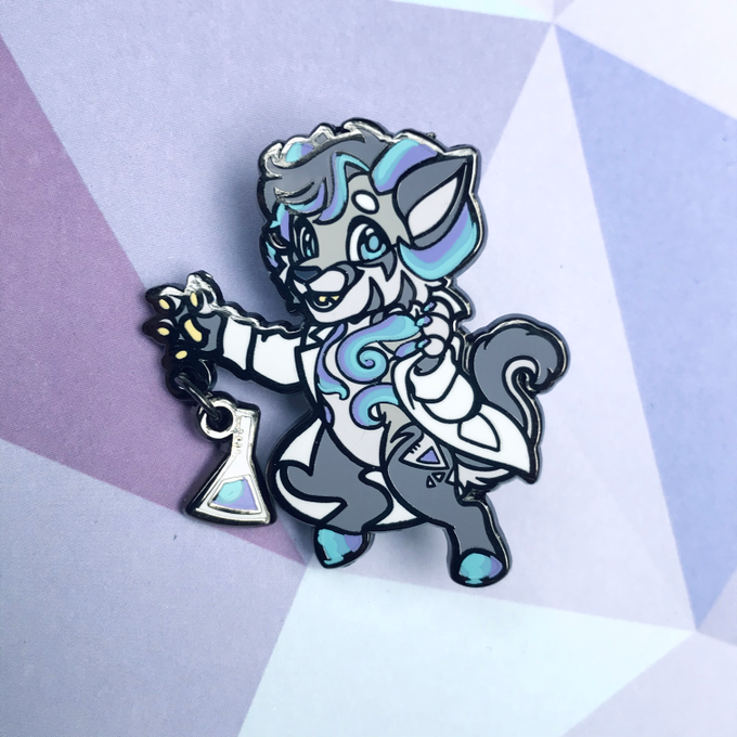Image of Dizzy #481 Fursona Enamel Pin