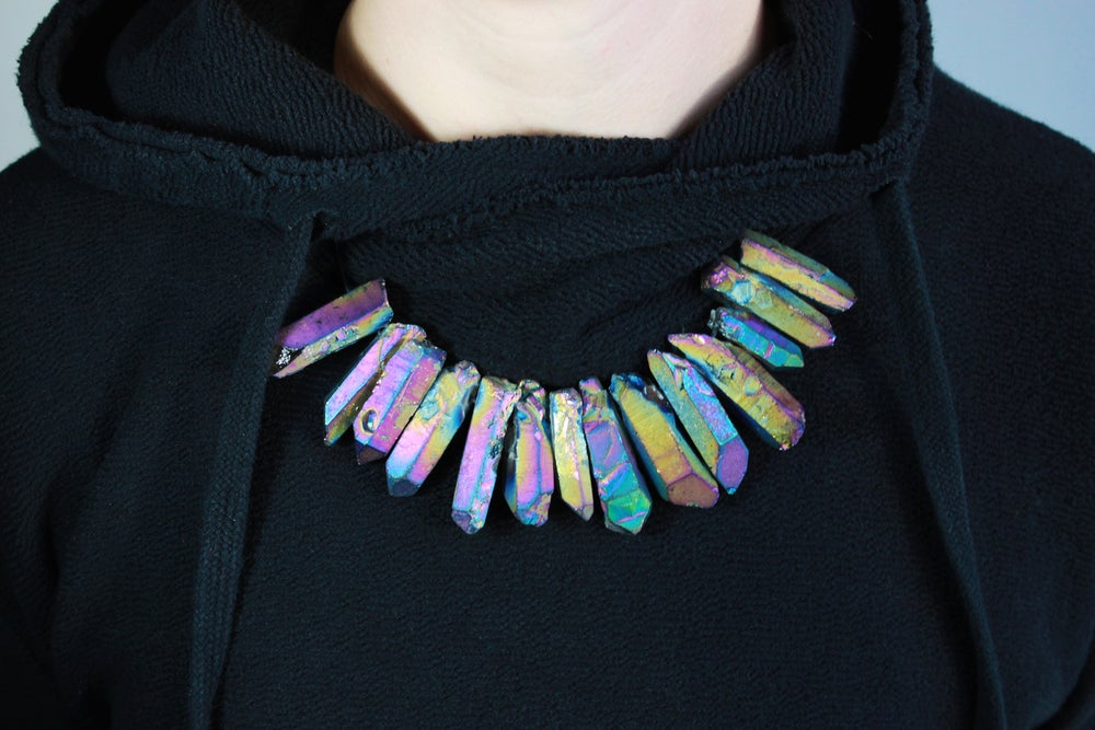Image of Crystal Necklace - Rainbow
