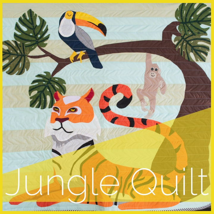 Image of Jungle Quilt Applique