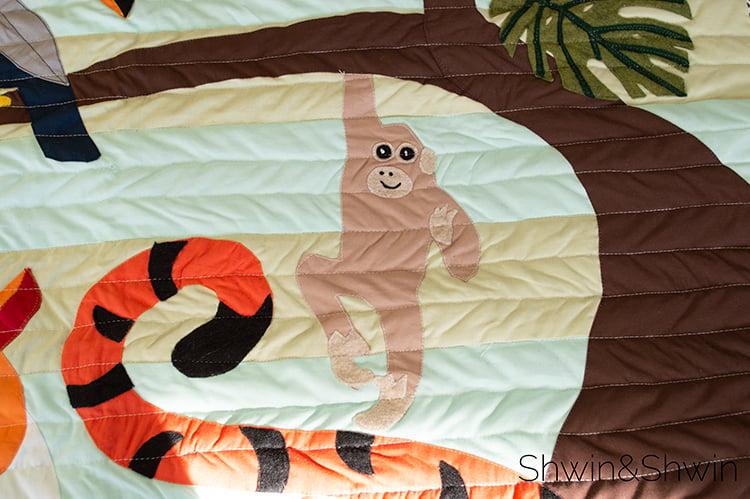 Image of Jungle Quilt Applique