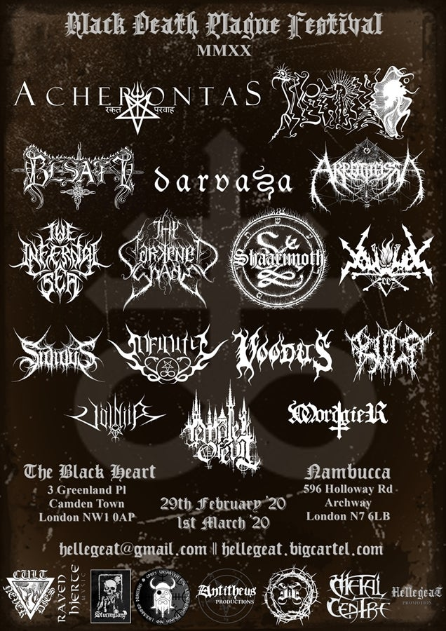 Image of E-tickets | Black Death Plague MMXX Festival | 2-day & 1-day pass