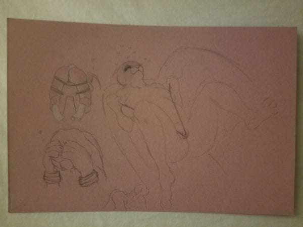 Image of Pink sketch page