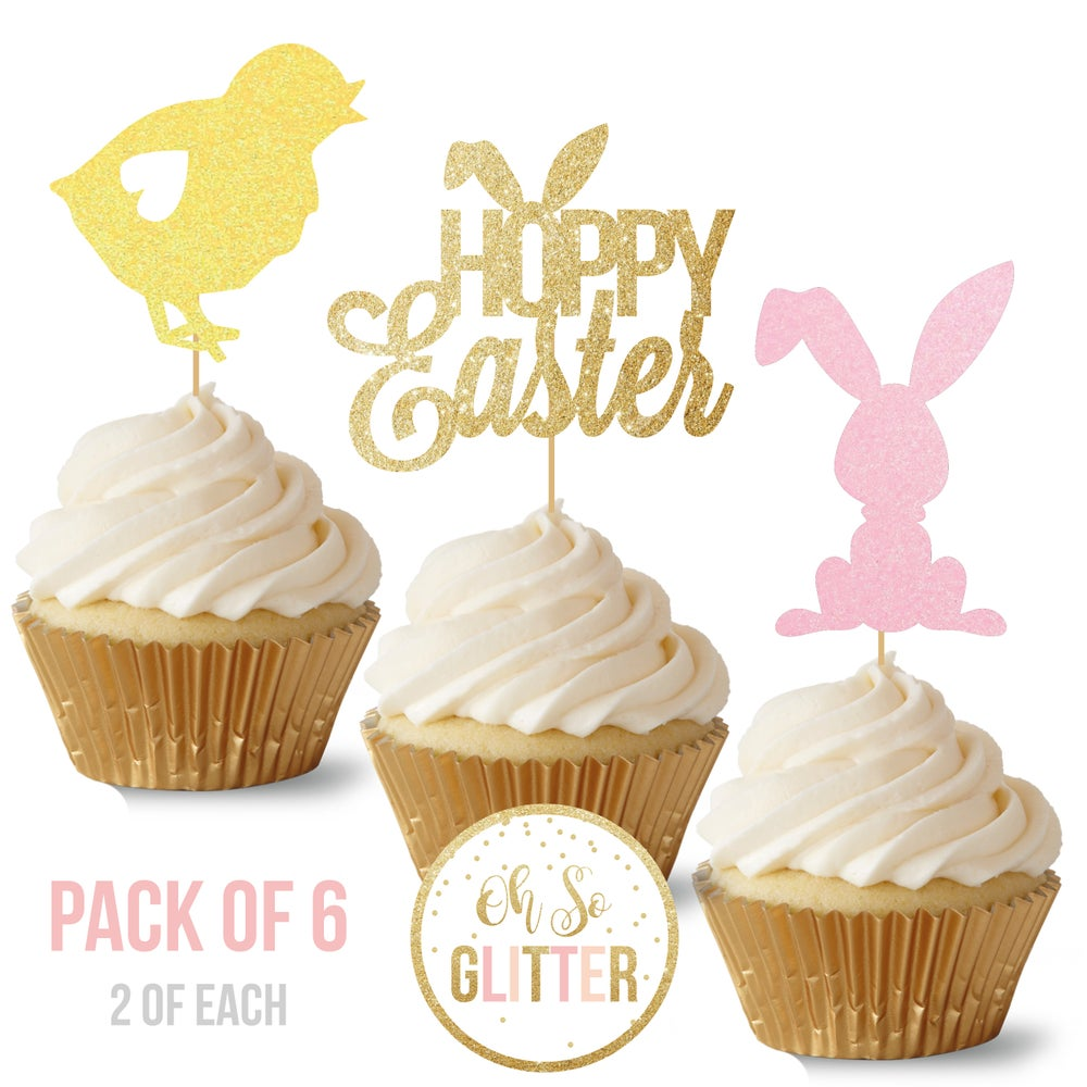 Image of Easter Cupcake Toppers