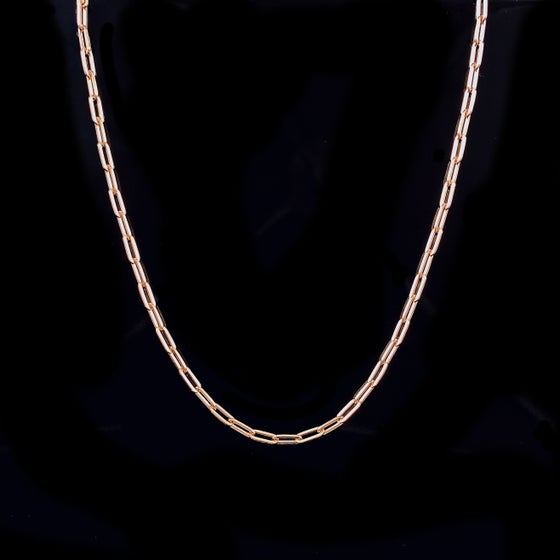 Image of Yola thin Necklace / 24k gold-coated silver