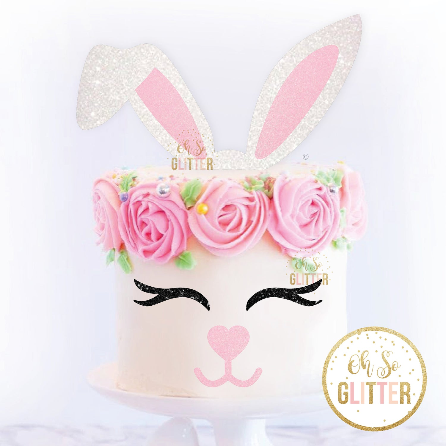 Image of Bunny Ears - Cake Topper set