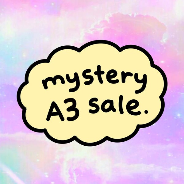 Image of the mystery A3 print sale