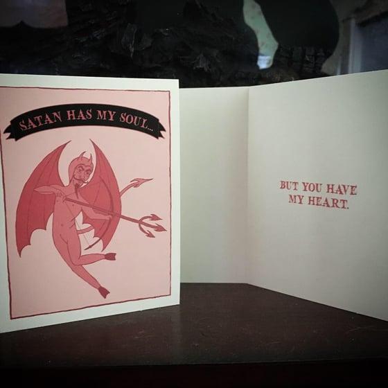 Image of SATAN HAS MY SOUL... Valentine Card