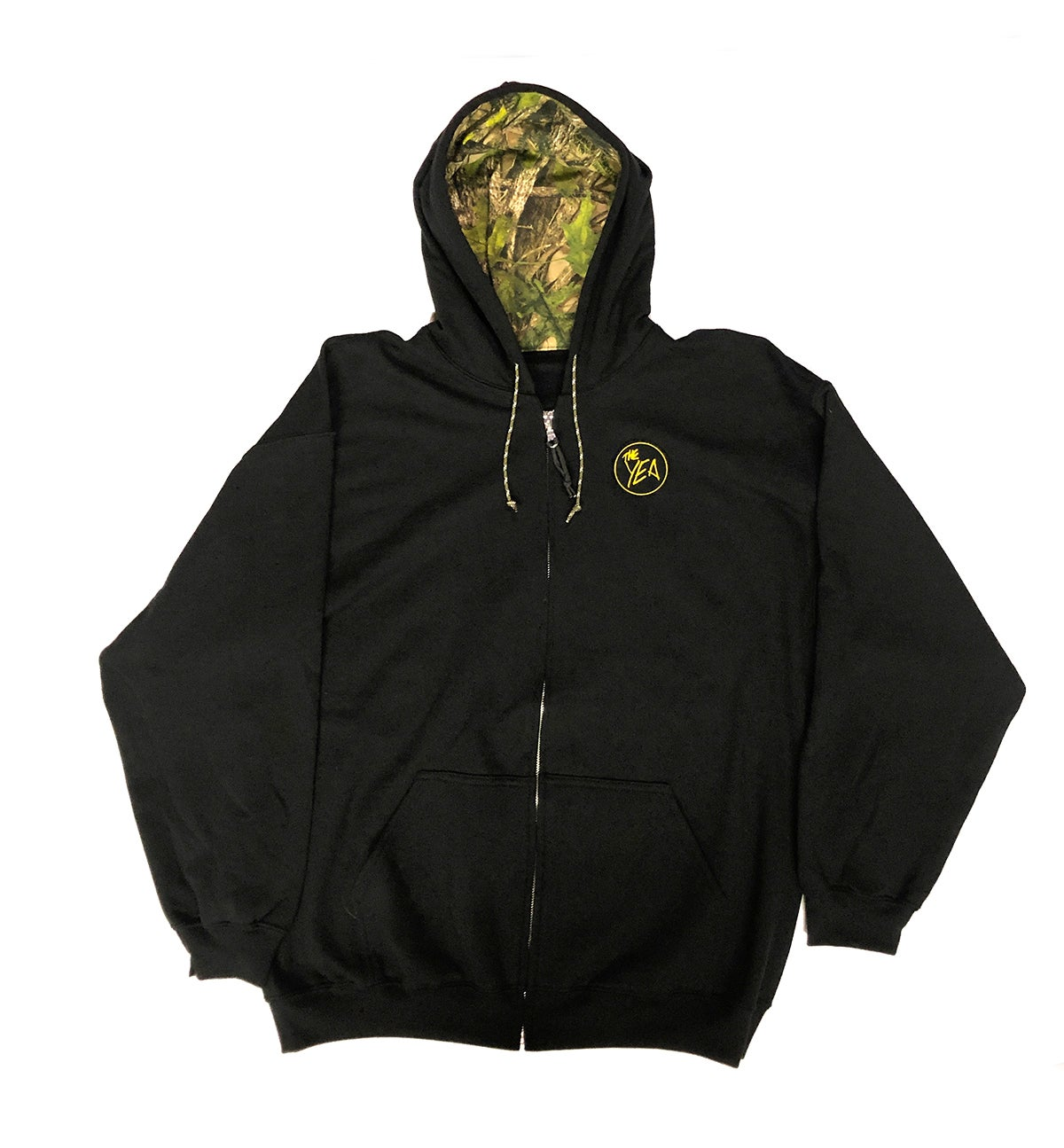 Image of 1of1: Black Zip Camo in Hood XL