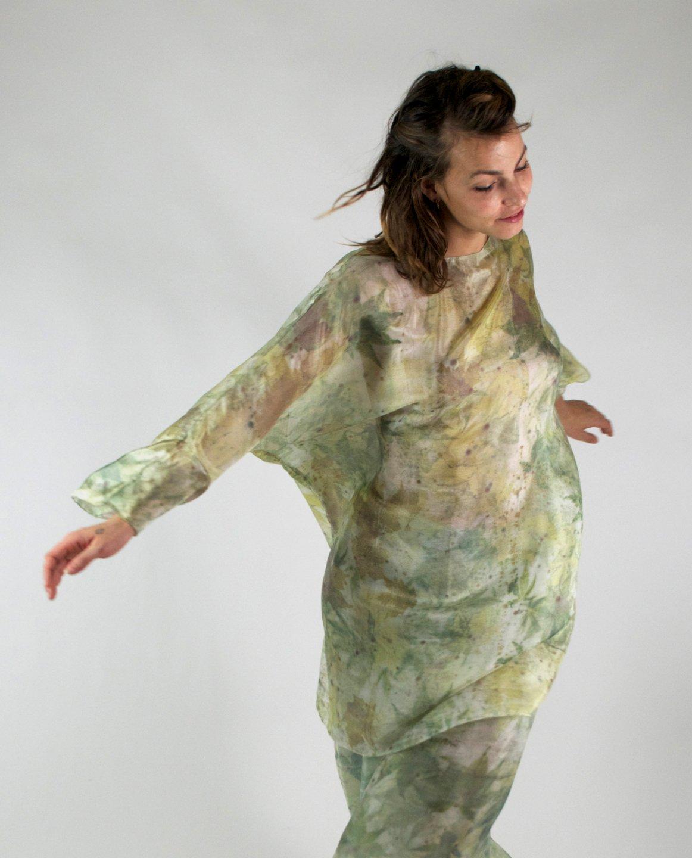 Image of Aquatic silk tunic