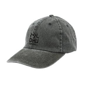 Image of WASHED COTTON CAP - BLACK