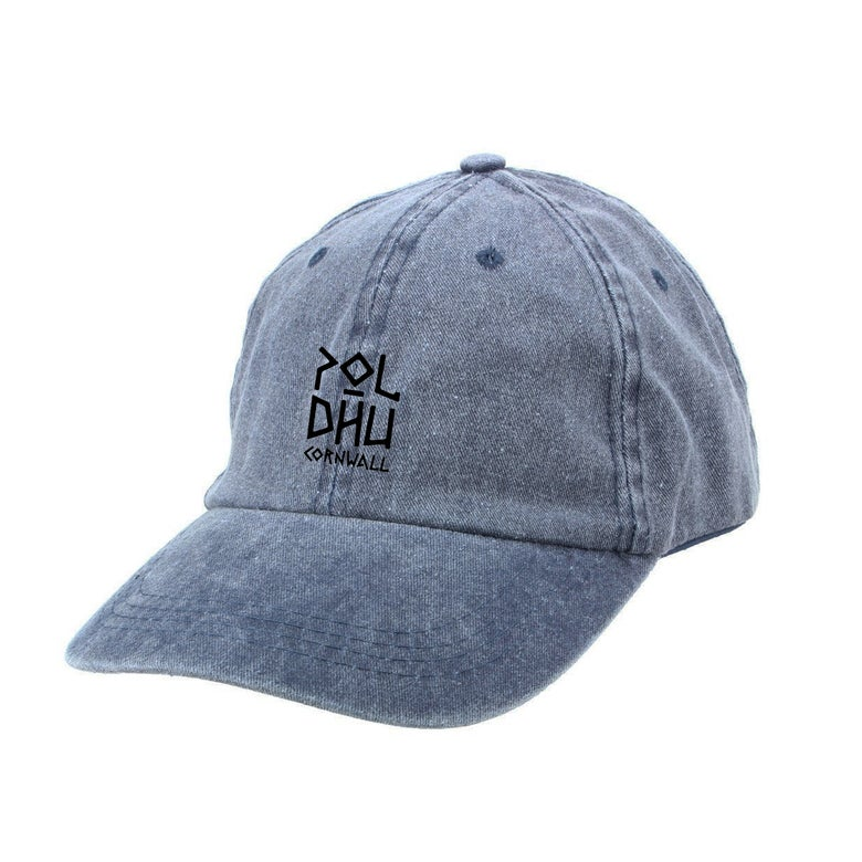 Image of WASHED COTTON CAP - BLUE